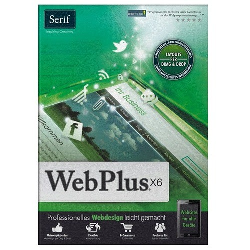 Serif WebPLUS X6 1 PC Vollversion EFS DVD