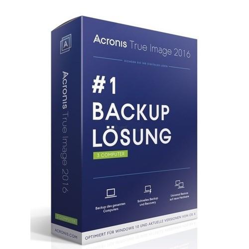 Acronis True Image 2016 1 Benutzer   3 PCs oder...