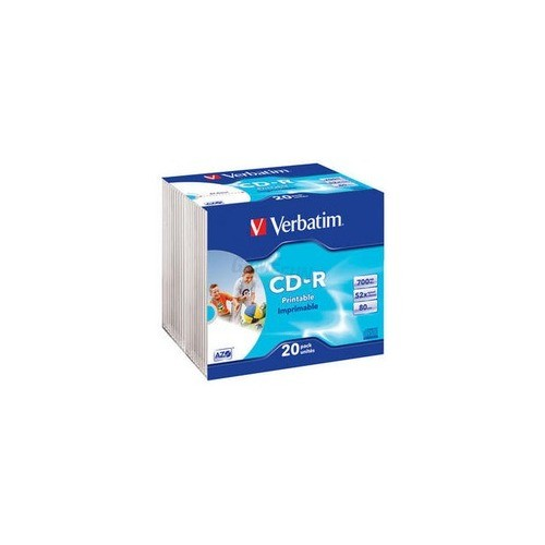 Verbatim CD-R 700MB 80min 52x 20er Slim Photo P...