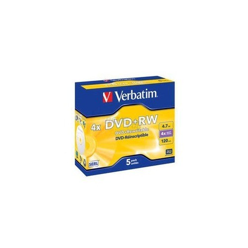 Verbatim DataLifePlus DVD+RW * 4.7GB/4x/5er Pac...