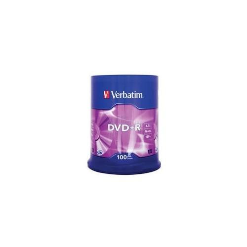 Verbatim DVD+R Matt Silver 4.7GB 16x 100er Spindel