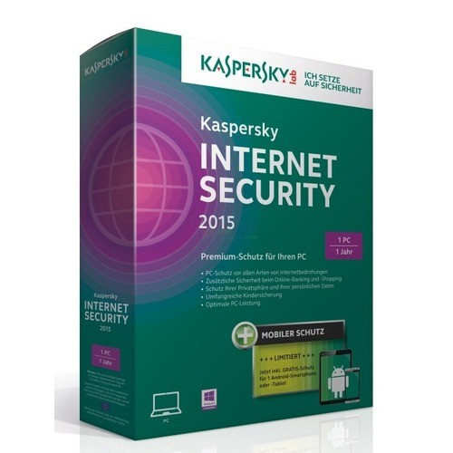 Kaspersky Internet Security 2015 + Android Security 1 PC + 1 Android Vollversion MiniBox 1 Jahr inkl. Update 2018*