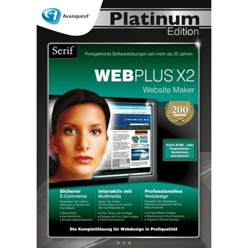 Serif WebPlus X2 Vollversion DVD-Box Platinum E...