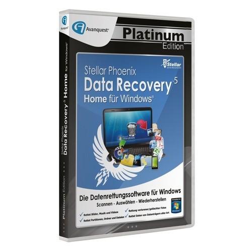 Stellar Phoenix Data Recovery 5 Win - Home Vollversion DVD-Box Platinum Edition