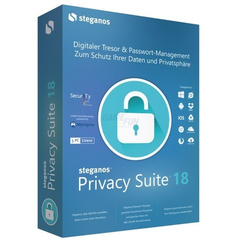 Steganos Privacy Suite 18 5 PCs Vollversion Min...