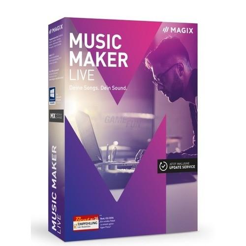 Vorschaubild von MAGIX Music Maker Live 2017 Vollversion 1 Jahr