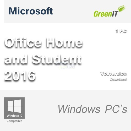 preisvergleich microsoft office home and student 2016 1 pc willbilliger. Black Bedroom Furniture Sets. Home Design Ideas