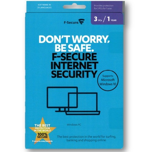 F-Secure Internet Security ML 3 PCs Vollversion...