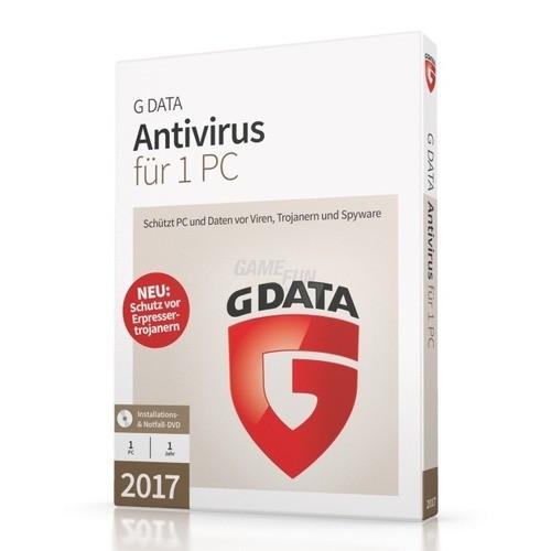 G Data Software AntiVirus 2017 1 PC Vollversion...