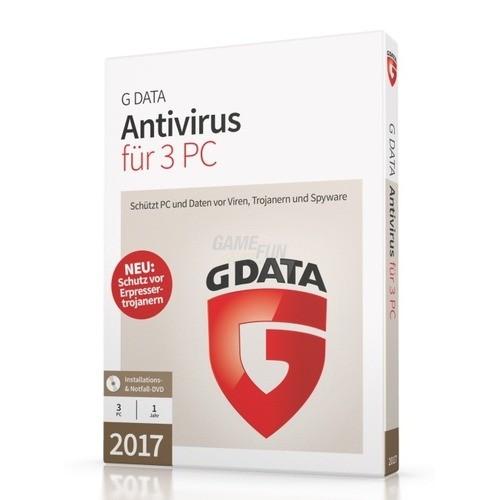 G Data Software AntiVirus 2017 3 PCs Vollversio...