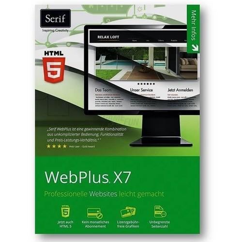 Avanquest Serif WebPlus X7 1 PC Vollversion DVD...