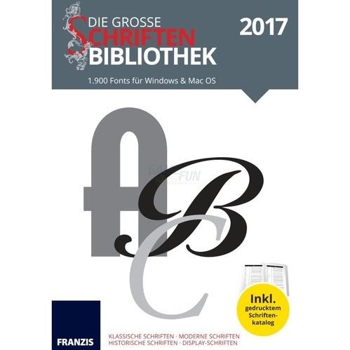 Franzis Verlag Die große Schriftenbibliothek 2017
