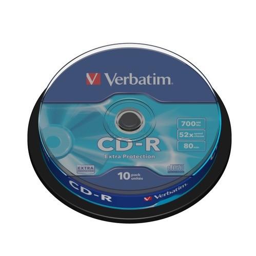 Verbatim CD-R 700MB 80min 52x 10er Spindel Extr...