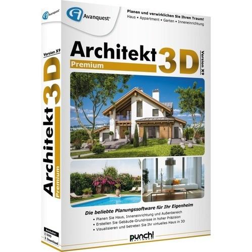 Software Architekt 3D X9 Premium Vollversion MiniBox