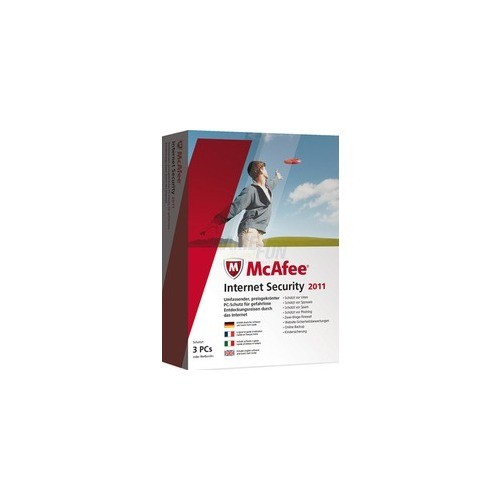 McAfee Internet Security 2011 ML 3 PCs Update MiniBox 1 Jahr