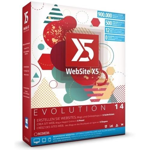 Incomedia WebSite X5 Evolution 14 2 PCs Vollver...