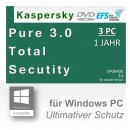 Kaspersky Pure 3.0 Total Internet Security 3 PCs Update...