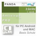 Panda Software Antivirus Pro 3 Geräte Vollversion EFS PKC...