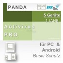 Panda Software Antivirus Pro 5 Geräte Vollversion EFS PKC...