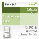 Panda Software Antivirus Pro 3 Geräte Vollversion GreenIT...