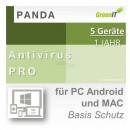 Panda Software Antivirus Pro 5 Geräte Vollversion GreenIT...