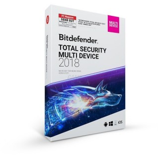 Bitdefender Total Security Multi Device 5 Geräte Vollversion ESD 2 Jahre für Version 2018