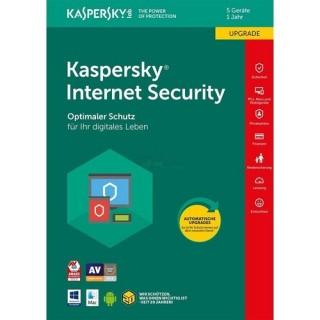 Kaspersky Internet Security 5 PCs Update EFS PKC 1 Jahr für aktuelle Version 2018