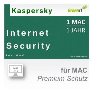 Kaspersky Internet Security for Mac 1 Benutzer | 1 Mac Vollversion GreenIT 1 Jahr für Version 2017