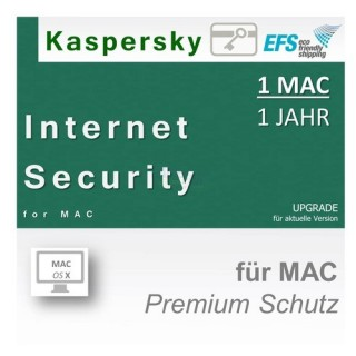 Kaspersky Internet Security for Mac 1 Benutzer | 1 Mac Update EFS PKC 1 Jahr für aktuelle Version 2016