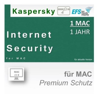 Kaspersky Internet Security for Mac 1 Benutzer | 1 Mac Vollversion EFS PKC 1 Jahr für aktuelle Version 2016