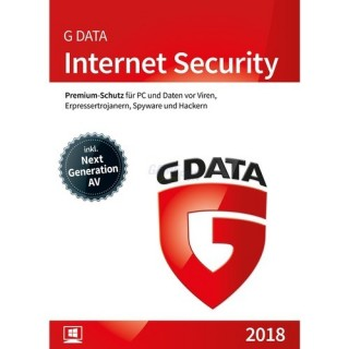 G Data Software Internet Security 1 PC Vollversion ESD 1 Jahr für aktuelle Version 2017
