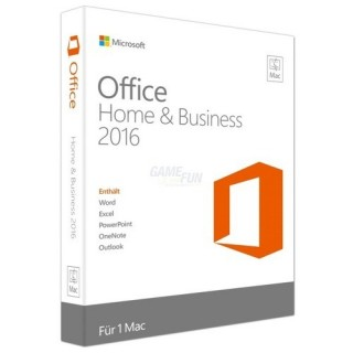 Microsoft Office Mac Home and Business 2016 (DE) 1 Benutzer | 1 Mac Vollversion PKC (Code in a Box)