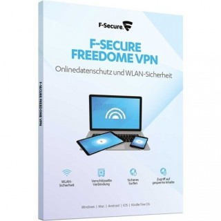 F-Secure Freedome VPN|noGeoblocking 3 Geräte Vollversion PKC 1 Jahr for Windows MAC Mobile