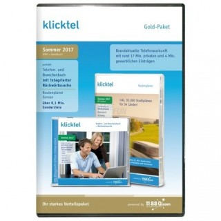 11880 Internet Services klickTel Gold-Paket Sommer 2017 Vollversion DVD-Box
