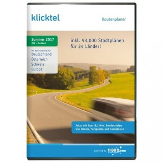 11880 Internet Services klickTel Routenplaner Sommer 2017 Vollversion DVD-Box