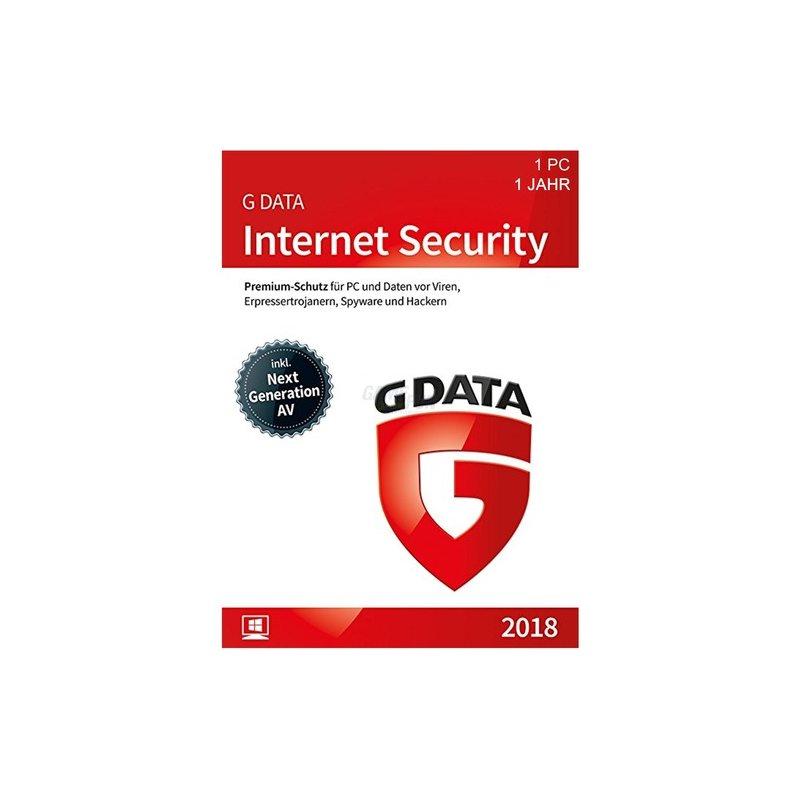 G Data Software Internet Security 1 PC Vollversion GreenIT 1 Jahr für aktuelle Version 2018