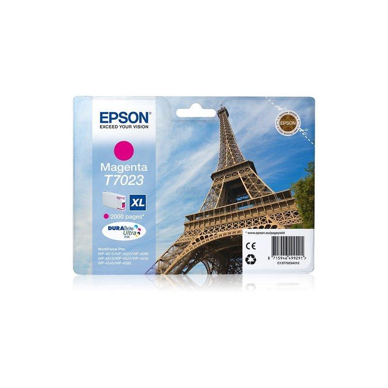 Epson T7023 Tintenpatrone XL Magenta 2K * WP4000/4500-Serie Retail