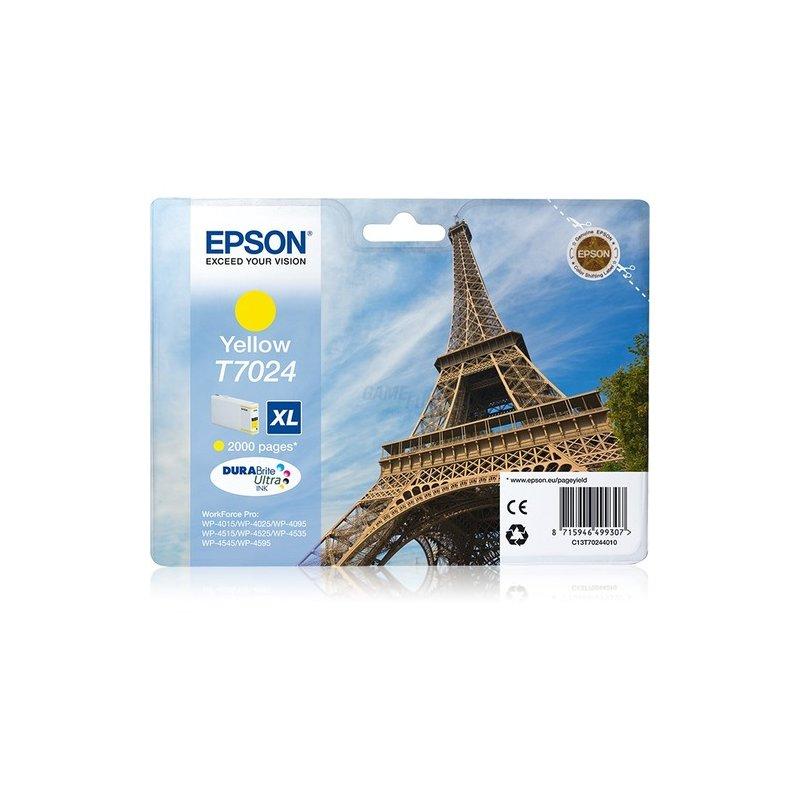 Epson T7024 Tintenpatrone XL Yellow 2K * WP4000/4500-Serie Retail