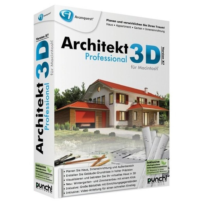 Punch! Software Architekt 3D X7 Professional für Mac 1 Benutzer | 1 Mac Vollversion MiniBox