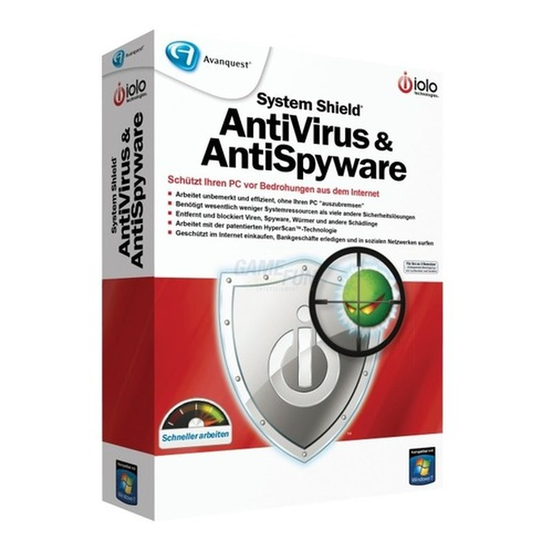 IOLO System Shield AntiVirus & AntiSpyware Vollversion DVD-Box