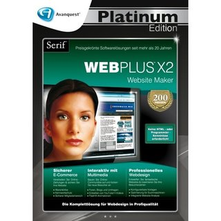 Serif WebPlus X2 Vollversion DVD-Box Platinum Edition