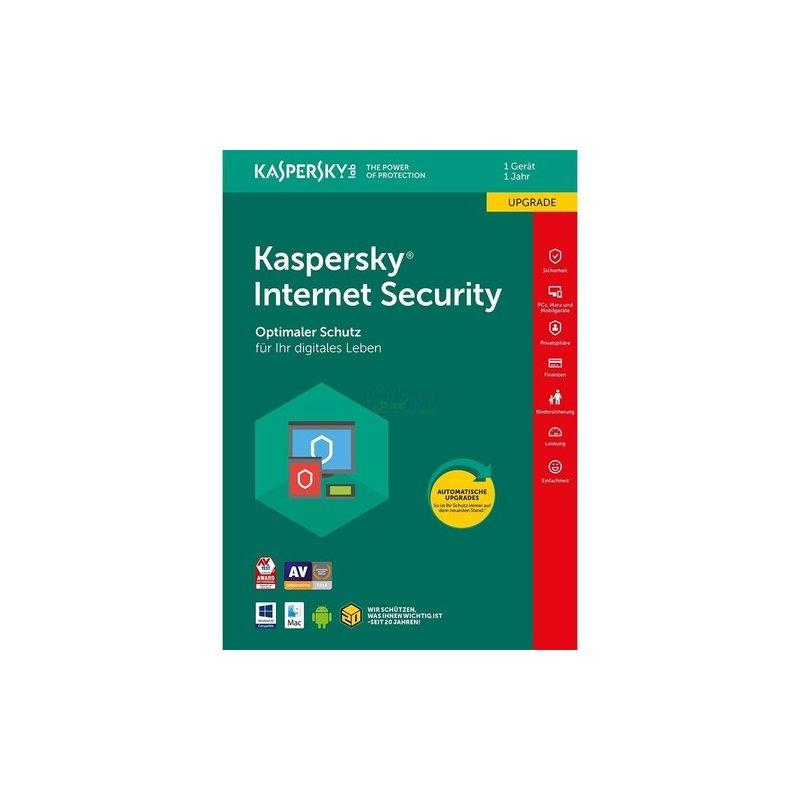 Kaspersky Internet Security 1 PC Update GreenIT 1 Jahr für aktuelle Version 2018