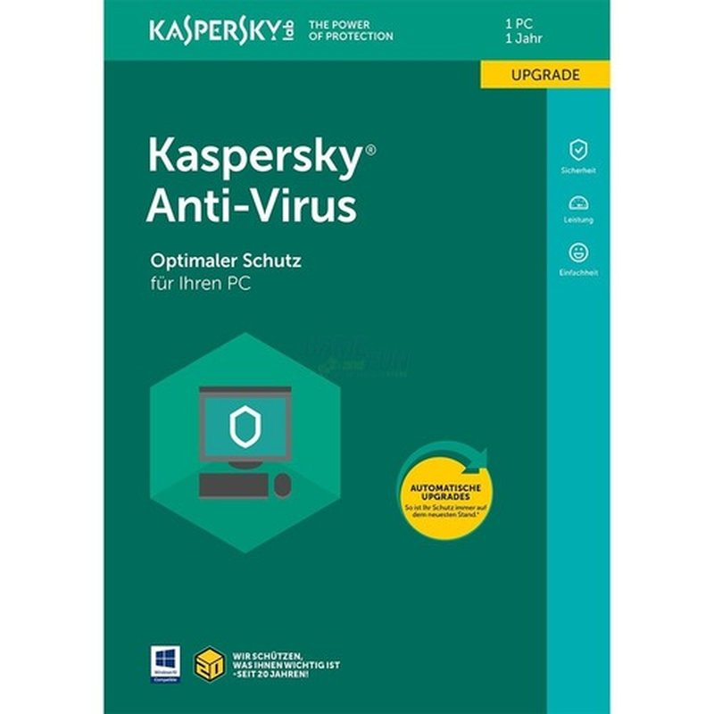 Kaspersky Anti-Virus 1 PC Update GreenIT 1 Jahr für aktuelle Version 2018