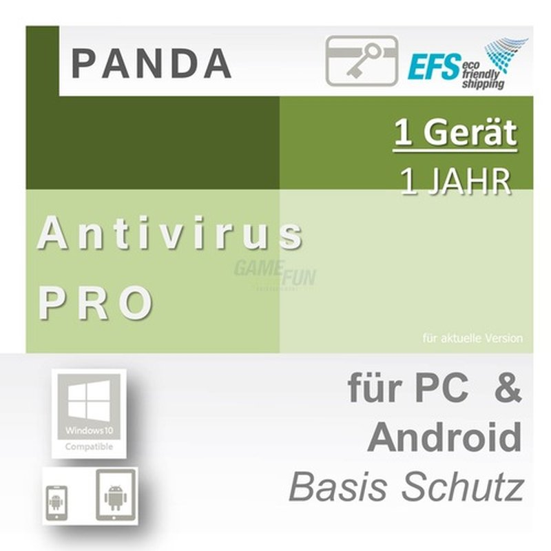Panda Software Antivirus Pro 1 Gerät Vollversion EFS PKC 1 Jahr für aktuelle Version 2016
