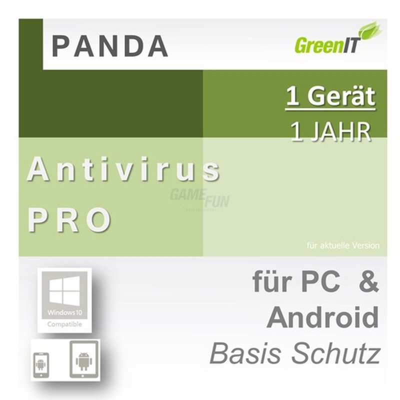 Panda Software Antivirus Pro 1 Gerät Vollversion GreenIT 1 Jahr für aktuelle Version 2016