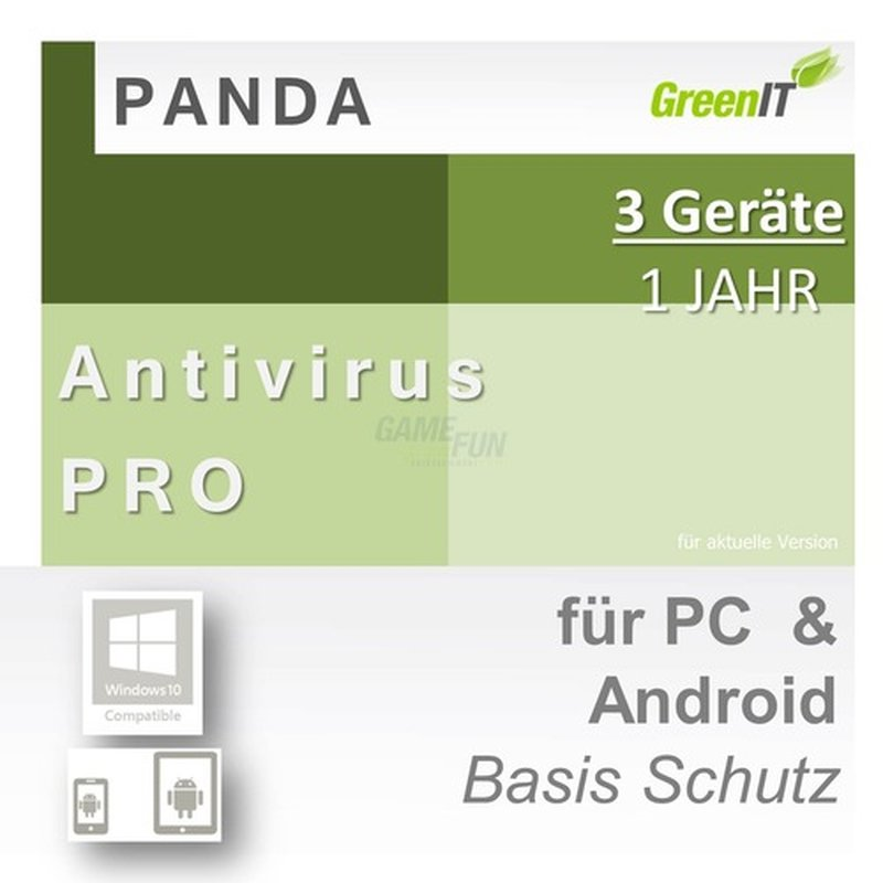 Panda Software Antivirus Pro 3 Geräte Vollversion GreenIT 1 Jahr für aktuelle Version 2016