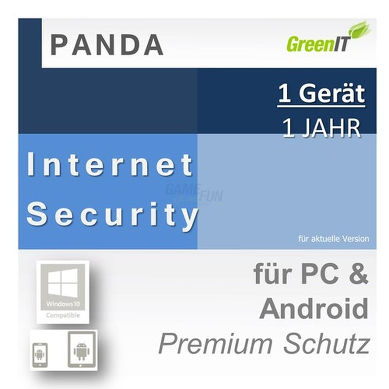 Panda Software Internet Security 1 Gerät Vollversion GreenIT 1 Jahr für aktuelle Version 2016