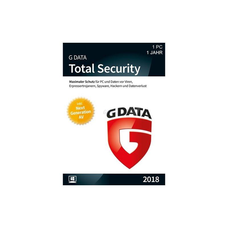 G Data Software Total Security 1 PC Vollversion GreenIT 1 Jahr für aktuelle Version 2018