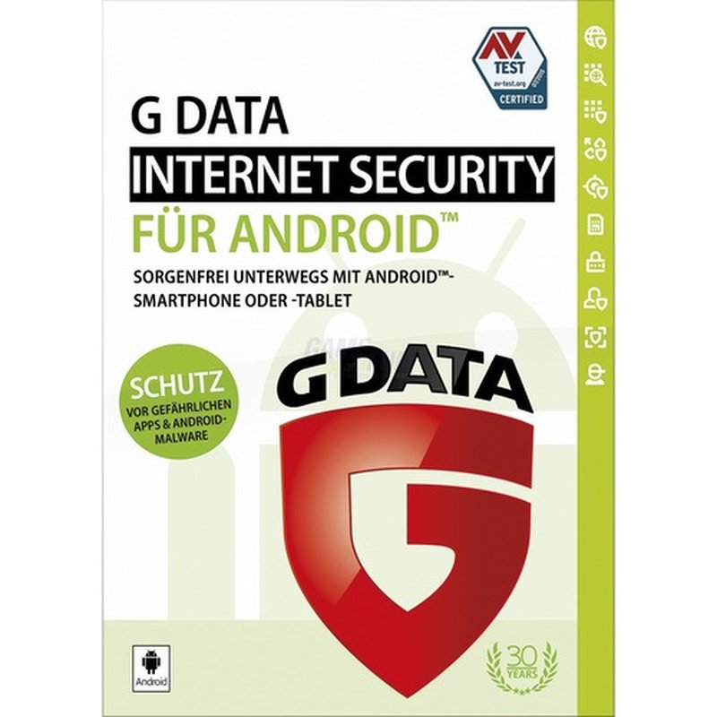 G Data Software Internet Security für Android 1 Gerät Vollversion ESD 1 Jahr für aktuelle Version 2017