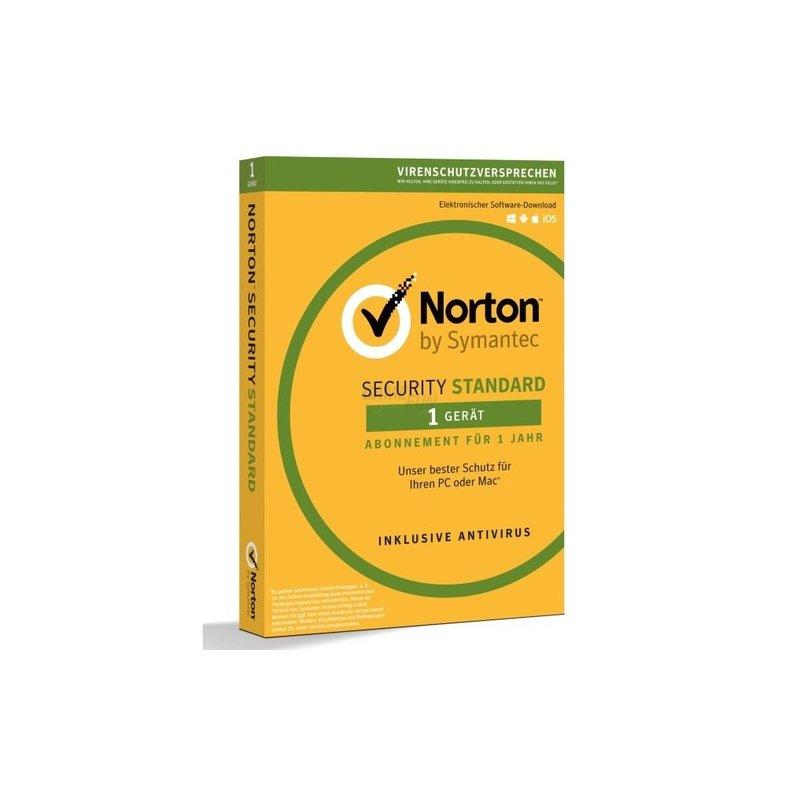 Symantec Norton Security Standard 3.0 Deutsch 1 Gerät Vollversion PKC 1 Jahr